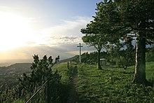 Auf dem Kehlen mit dem Gipfelkreuz