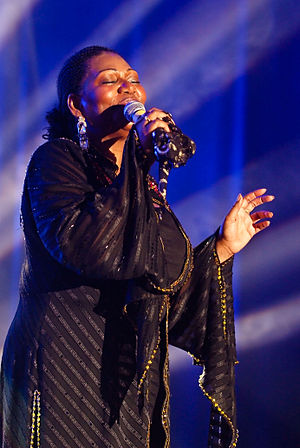 Liz Mitchell of Boney M in Kiel, 19 June 2009