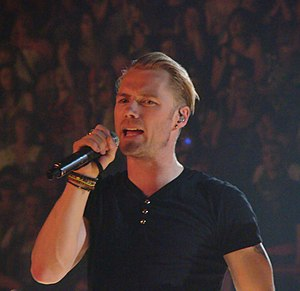 English: Ronan Keating with Boyzone