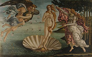 The Birth of Venus (ca. 1485), by Botticelli. ...