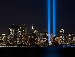 English: Tribute in Light, September 11, 2010.