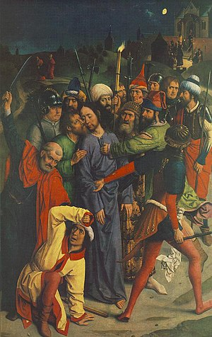 The Arrest of Christ with the kiss of Judas an...