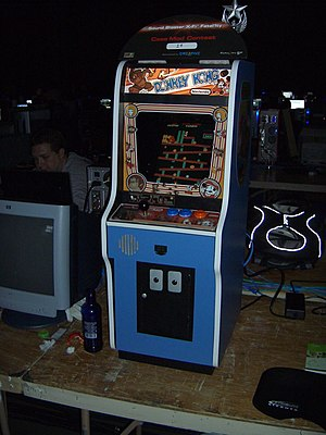 Donkey Kong arcade at the QuakeCon 2005.