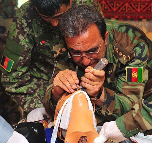 Emergency care for trauma course at the Kabul Ataturk Military Hospital