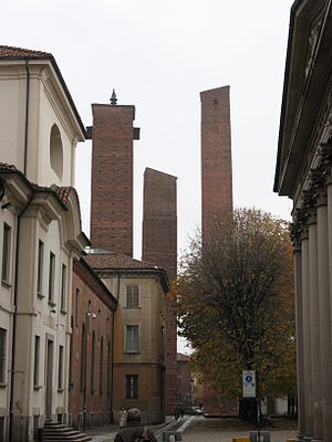 English: City of Pavia Italiano: Le tre torri ...