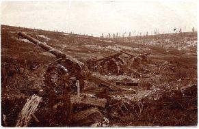 French long gun battery overrun at Verdun (alternate view)