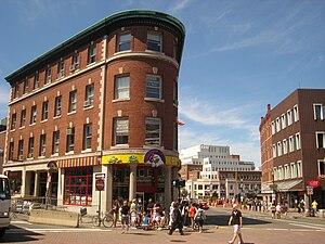 Harvard Square, Cambridge, Massachusetts, USA.