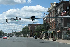 Main Street in East Hartford, USA