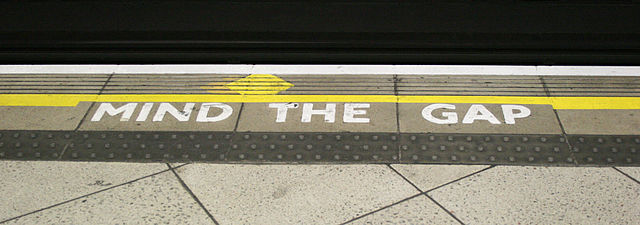 Mind the Gap - wikimedia