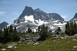 View of Banner Peak (with Mt Ritter behind) fr...
