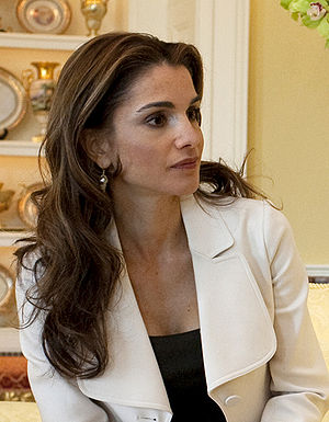 Jordan's Queen Rania in the Yellow Oval Room i...