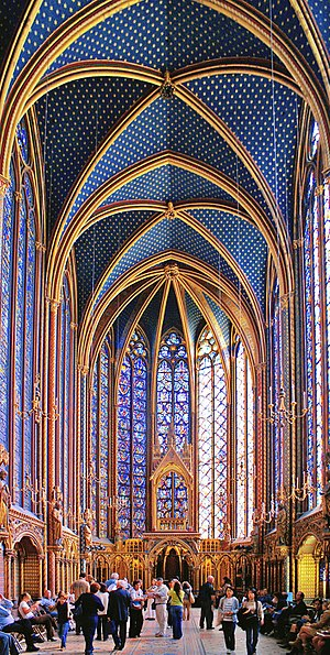 Sainte Chapelle - Upper Chapel, Paris, France