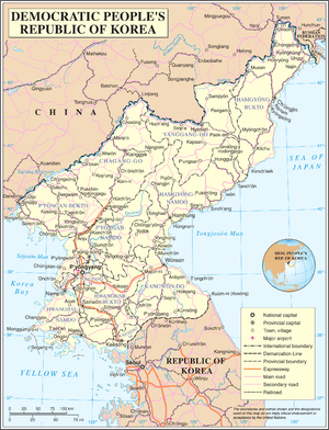 An enlargeable map of the Democratic People's ...