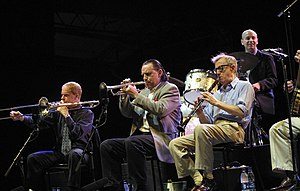 English: From flickr page: Woody Allen Band Pe...