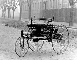 The Benz Patent Motorwagen was built in 1885