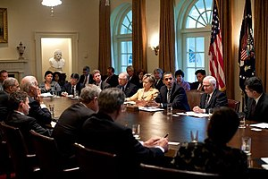 Barack Obama holds first cabinet meeting 4-20-09