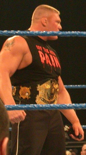 Brock Lesnar at a SmackDown! taping in Tacoma,...
