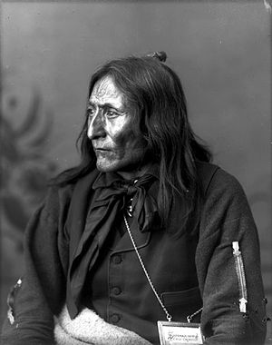 English: Photographic portrait of Crowfoot, He...