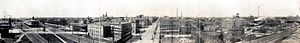 Panorama of downtown Erie in 1912, looking Wes...