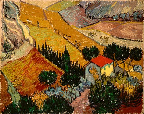 Gogh, Vincent van - Landscape with House and Ploughman