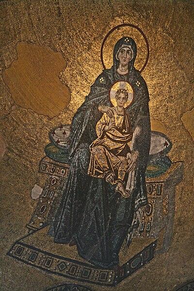 File:Hagia Sophia Interior Virgin 2007.JPG