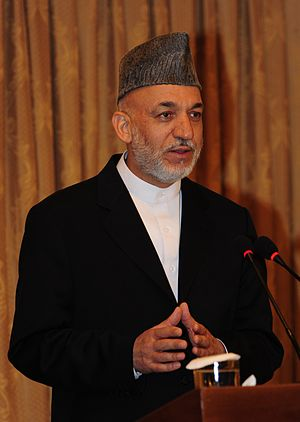 KABUL, Afghanistan- Afghan President Hamid Kar...
