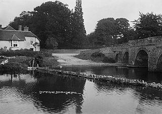 Leintwardine, bridge and Lion Hotel