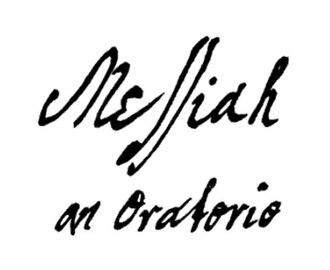 Title page of Handel's autograph score