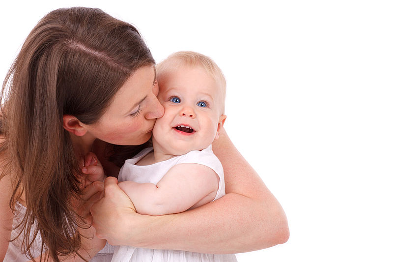 File:Mother Kissing Baby.jpg