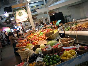 North Market Produce stand at the North Market...
