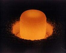 Plutonium pellet.