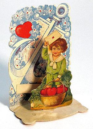 A tiny 2-inch pop-up Valentine, circa 1920