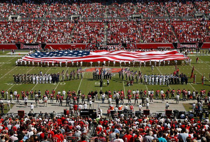 Raymond James Stadium American flag
