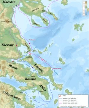 Η Ναυμαχία του Αρτεμισίου, που διεξήχθη παράλληλα με τη μάχη των Θερμοπυλών, είναι θαλάσσια σύγκρουση μεταξύ Ελλήνων και Περσών, κατά τη δεύτερη περσική εισβολή.