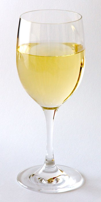 This image shows a white wine glass (WMF Easy)...