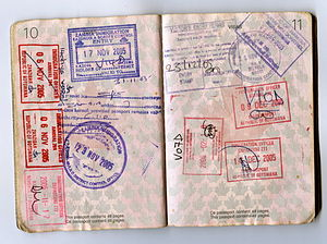 Various African passport stamps