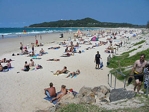 Main accessible beach from Byron Bay ...
