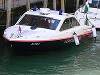 Motoscafo dei Carabinieri utilizzato a Venezia