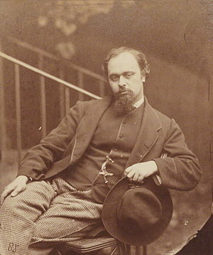 English: Portrait of Dante Gabriel Rossetti: a...