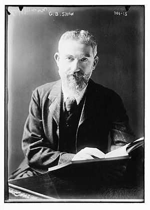 English: George Bernard Shaw, Irish playwright...