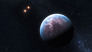 English: The 6 Earth-mass exoplanet circulates...