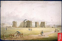 El palacio del Gobierno de la Calcuta colonial.