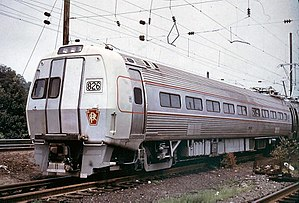 Budd Pennsylvania Railroad Metroliner multiple...