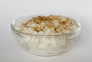 English: Rice pudding with cinnamon and sugar ...