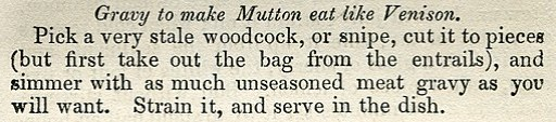 Mrs Rundell Gravy to make Mutton eat like Venison