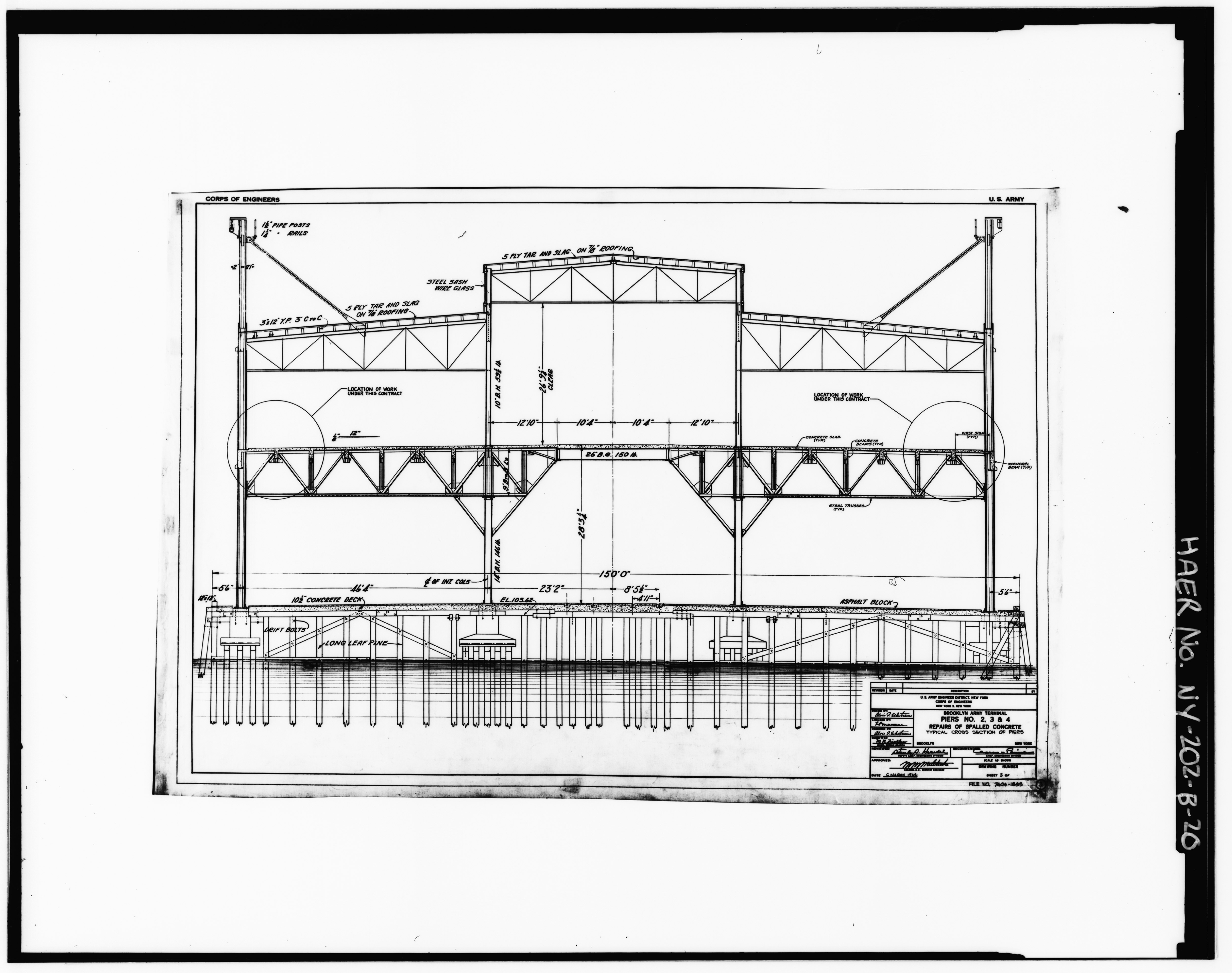 File Photocopy Of Original Drawing By Us Army Engineer District Corps Of Engineers