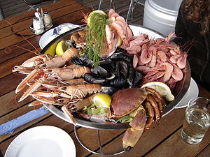English: Seafood dish