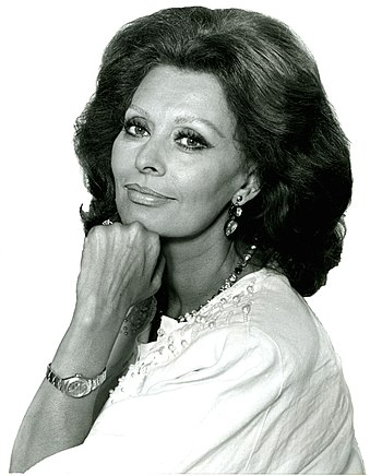Portrait of the Italian actress Sophia Loren f...
