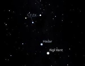 English: This is the Crux (Southern Cross) con...