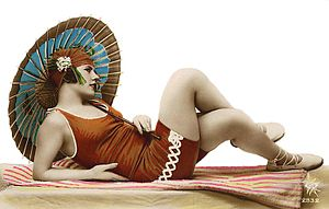 Woman's one-piece bathing suit, c.1920